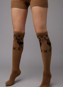 Brown Knee High Socks