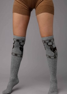 Gray Knee High Socks