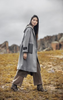 Women Gray Coat