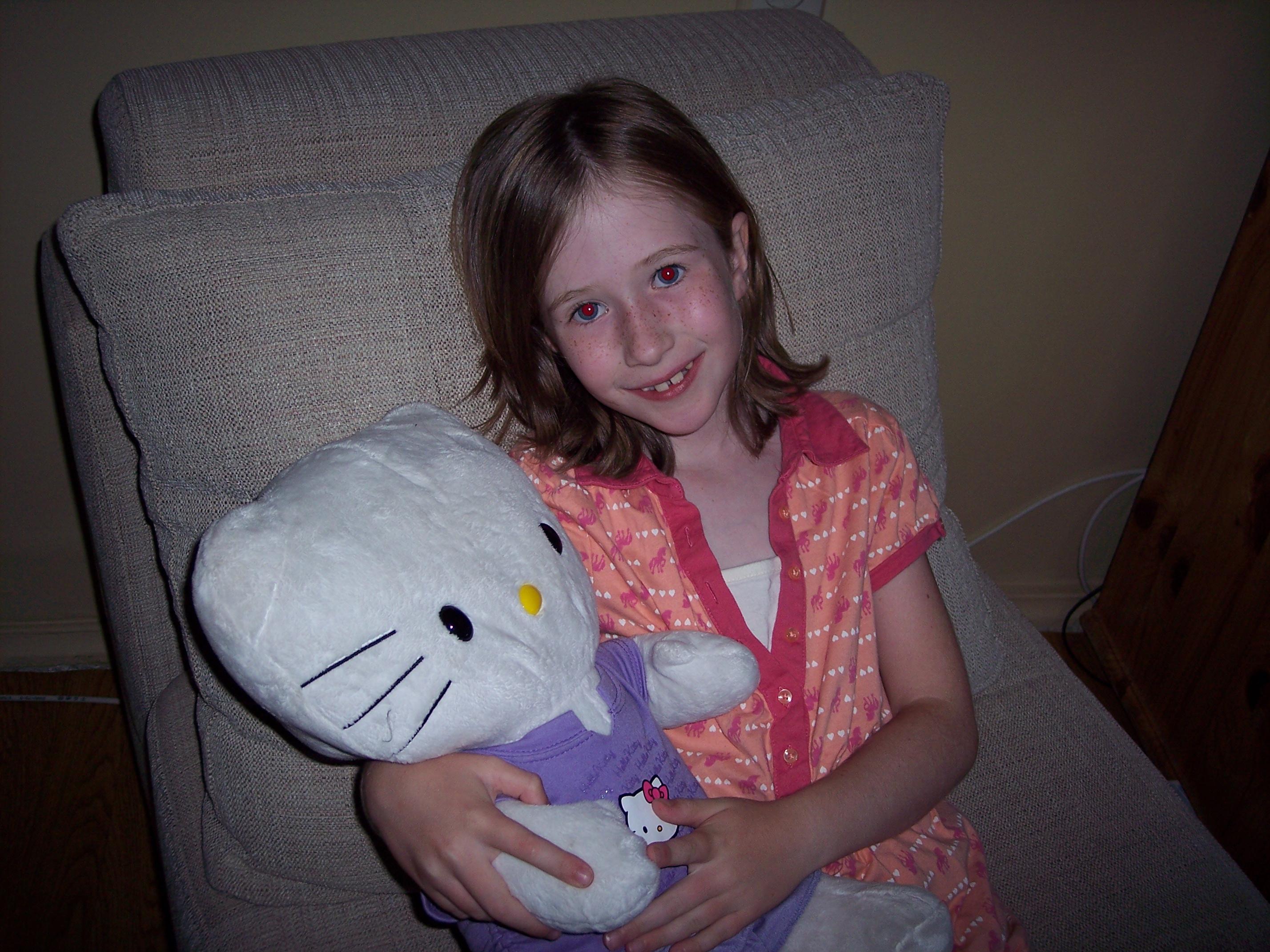 Hello Kitty got her stuffing back!