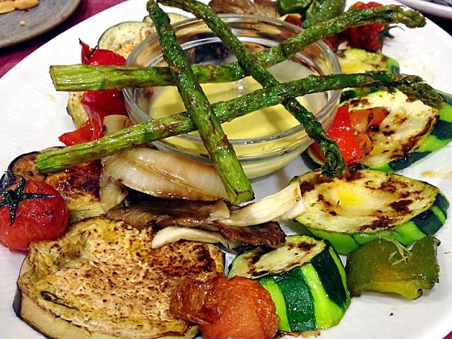 アルバセテのアランブリケの野菜グリル