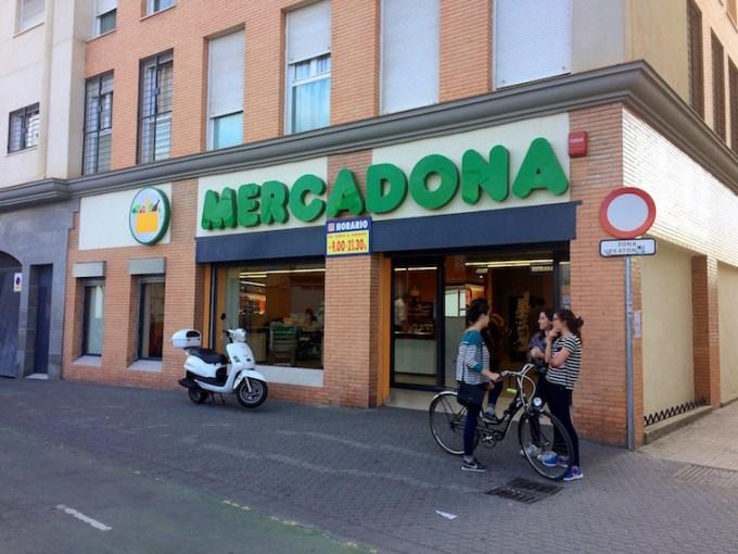スペインのスーパーメルカドーナ