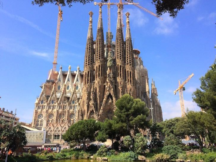 バルセロナのサグラダファミリア