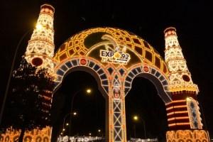 セビーリャのフェリア2017の正門点灯式