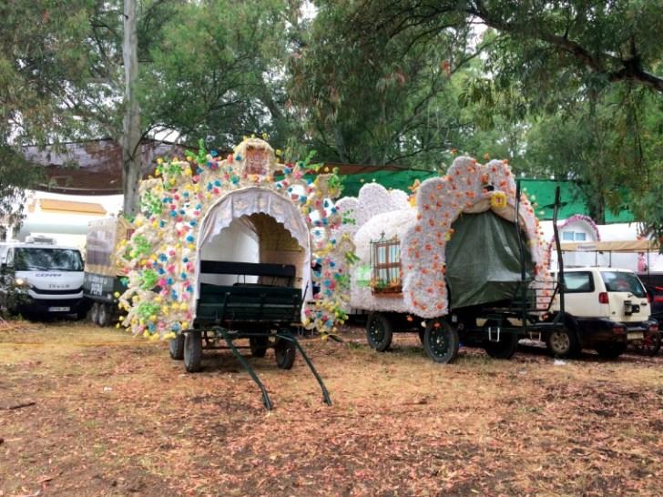 ロシオの巡礼祭用の車