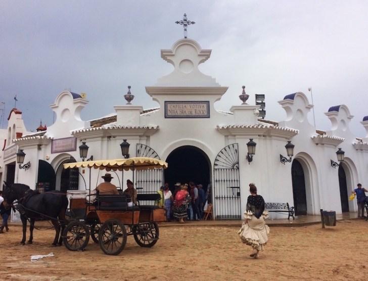 ロシオの巡礼祭のVirgen del Rocio
