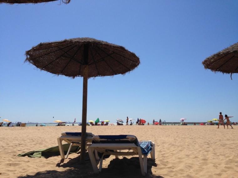 バルデラグラナのビーチパラソル