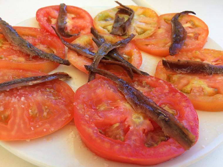 バルデラグラナの海の家のトマト