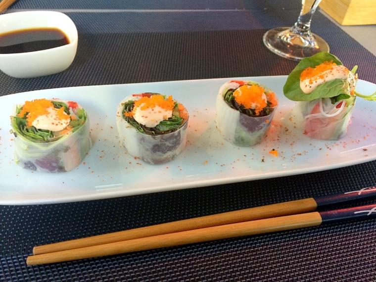 セビリア日本食レストラン山崎の生春巻き