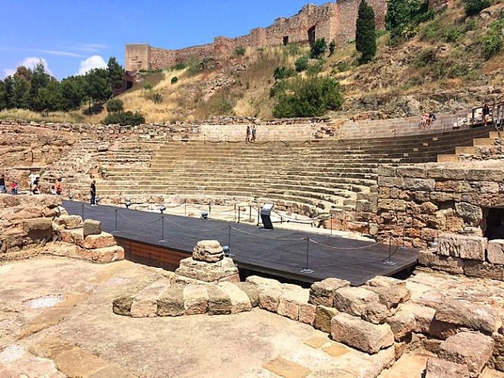 マラガのローマ劇場