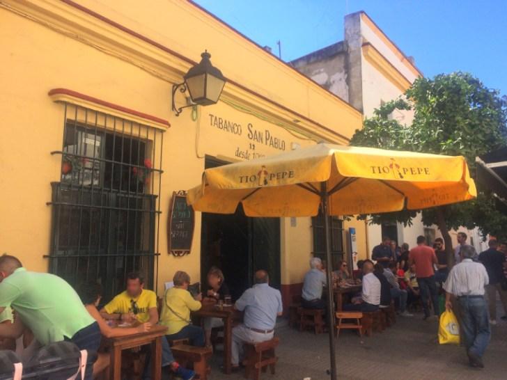 ヘレスのタバンコ「Tabanco San Pablo」の外観
