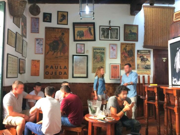 ヘレスのタバンコ「Tabanco San Pablo」の店内