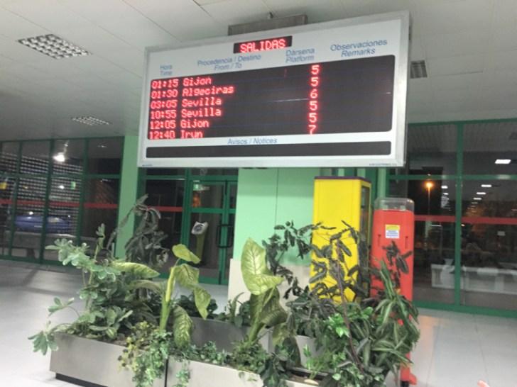 プラセンシアのバスターミナル