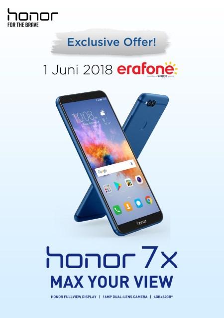 Honor 7X Tersedia di Erafone Tanggal 1 Juni 2018