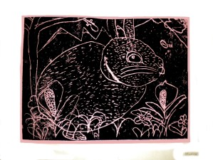 do art childhood rabbit drawing