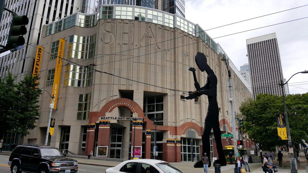 art of Seattle art museum exterior