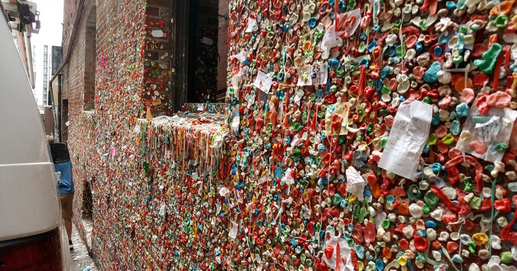 art of seattle gum wall covered