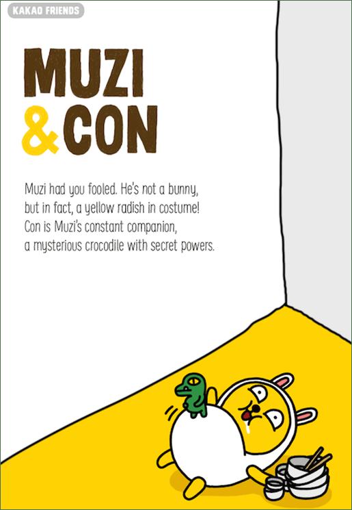 Kakao Friends Muzi and Con