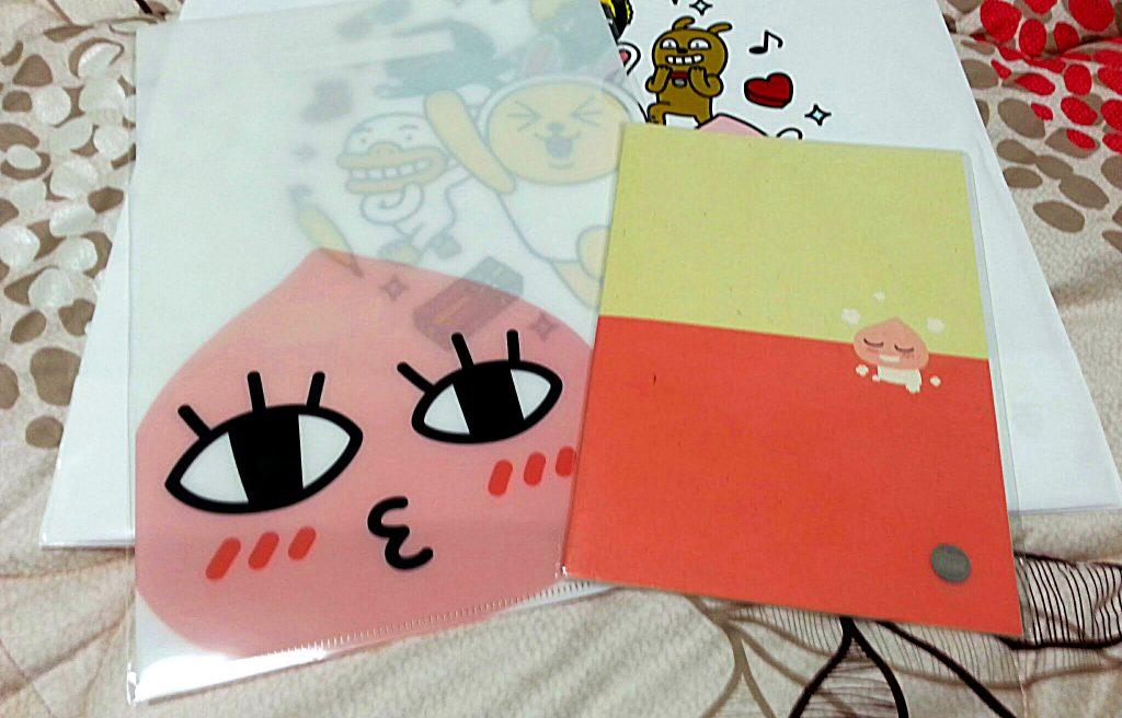 Kakao Friends emoji folder and notebook with Apeach
