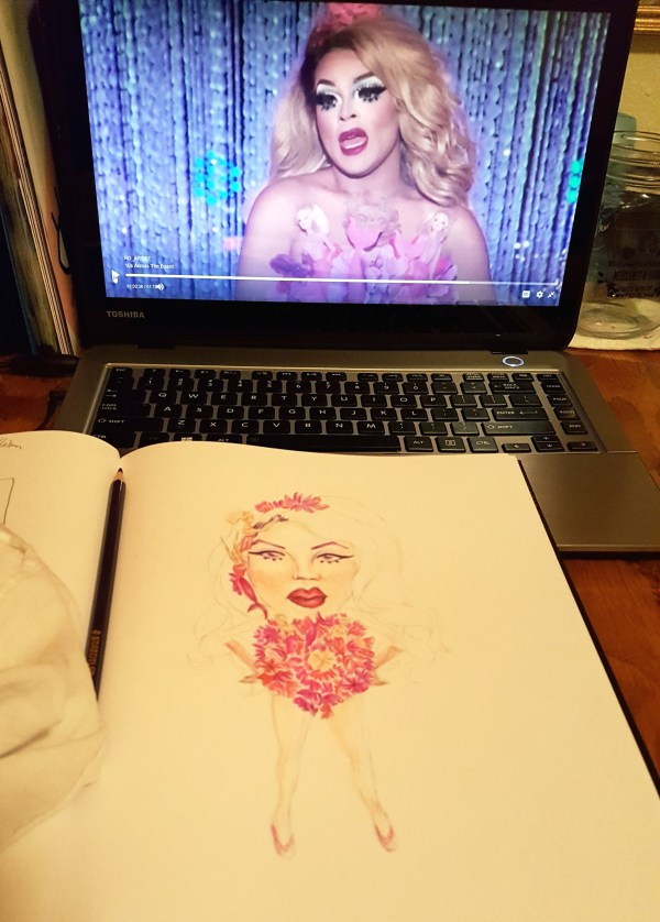 April Art Challenge - 2 Miss Vanjie in progress