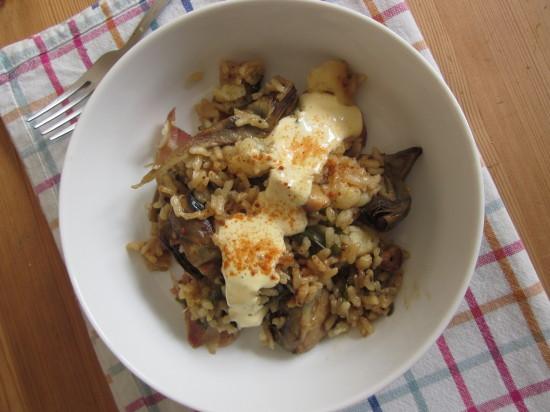 arroz de verduras y ajo