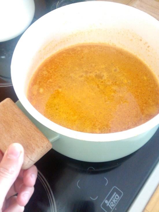 cocinando el chana dal