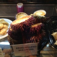 I took a bite from Alex's sea urchin...it was so good!
