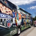 NBC Sunday Night Football bus
