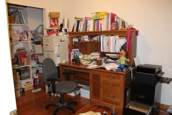 My beautiful includes a messy office
