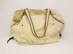 Muxo Leather Handbag in Sand