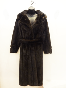 Vintage Long Mink/Leather Coat $799