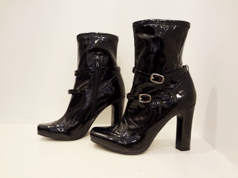 BCBG Patent Leather Ankle Boots - $49