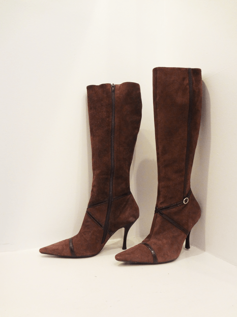 BCBG Girls Brown Suede Boots - $69
