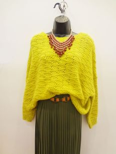 Fumbling Foe Lime Green Sweater $39.00 - Seasons Olive Pleated Maxi Skirt $39.00