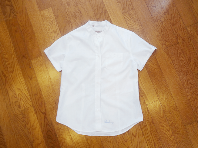 Burberry White Pinstriped Blouse - $49 (Size M)