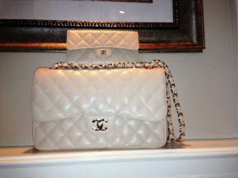 Classic Chanel Ivory Bag, call for pricing