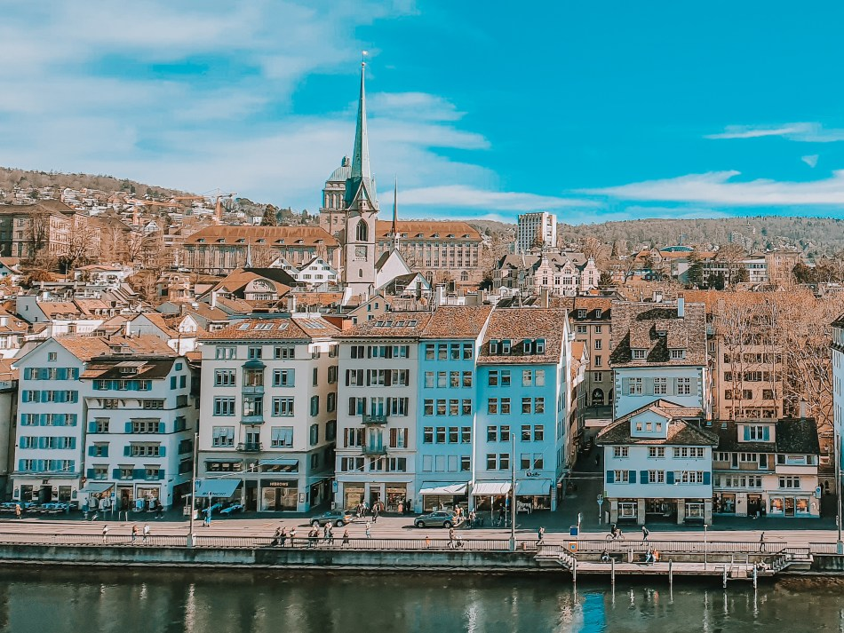 Lindenhof hill  - Panoramic View of Zurich's Old Town