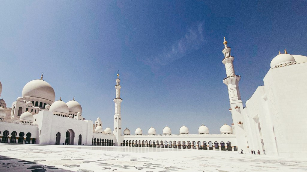 The Sheikh Zayed Grand Mosque Courtyard