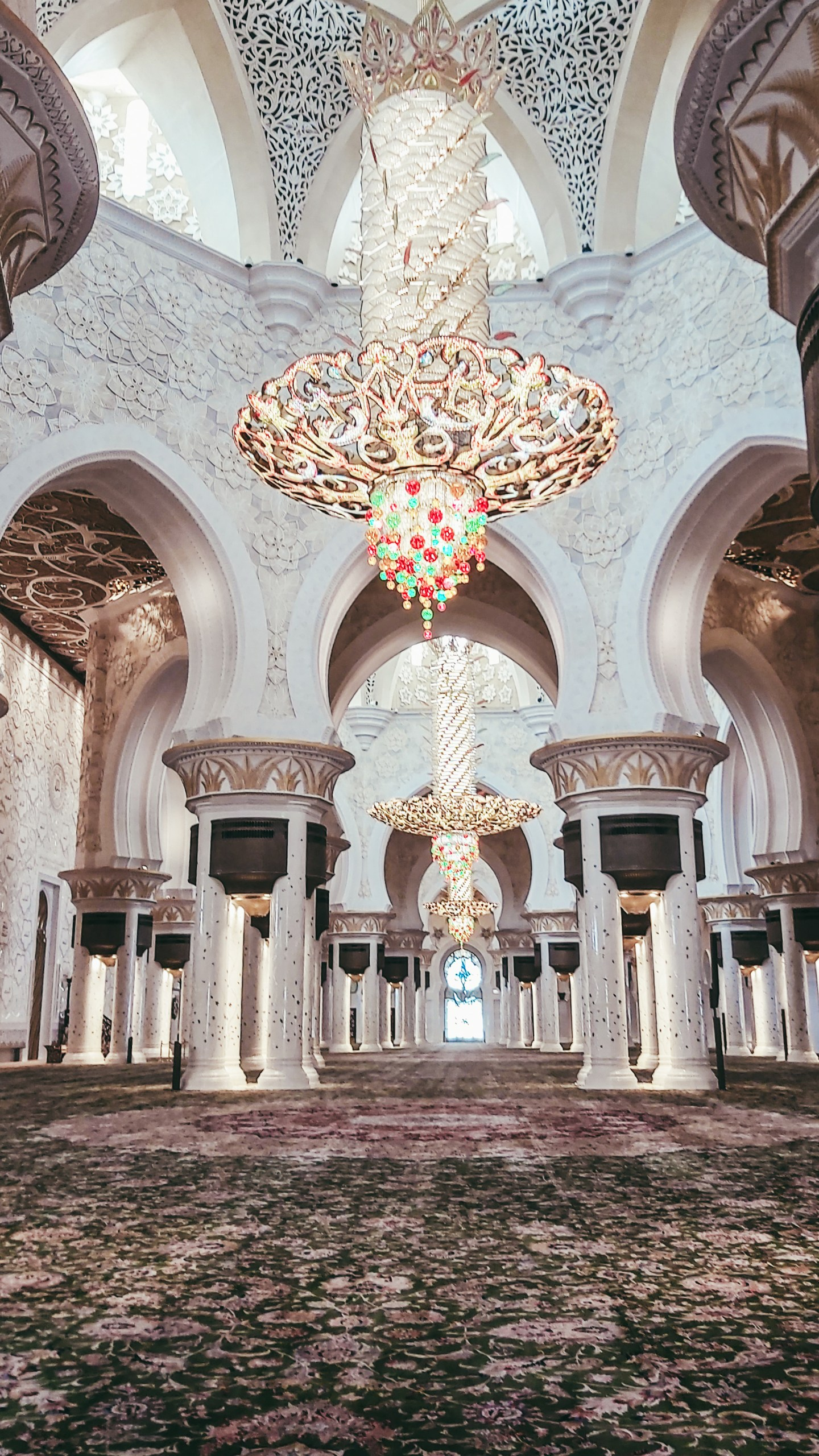 The Prayer Room of Sheikh Zayed Grand Mosque.
