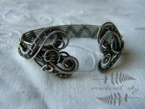 Woven sterling silver cuff. 2014