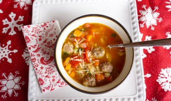 Monica's Mini Meatball Minestrone