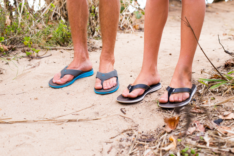 boys in Reef sandals