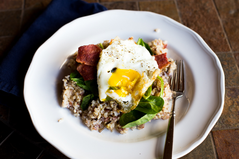 Healthy Loco-moco fry egg