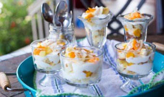 Tropical fruit Parfaits {lightened up}
