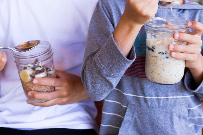 boys oatmeal jars