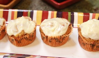 Orange Mac-Nut Pumpkin Muffins