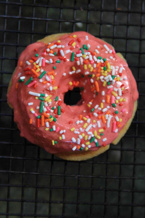 strawberry yogurt donuts, at thegrommom.com