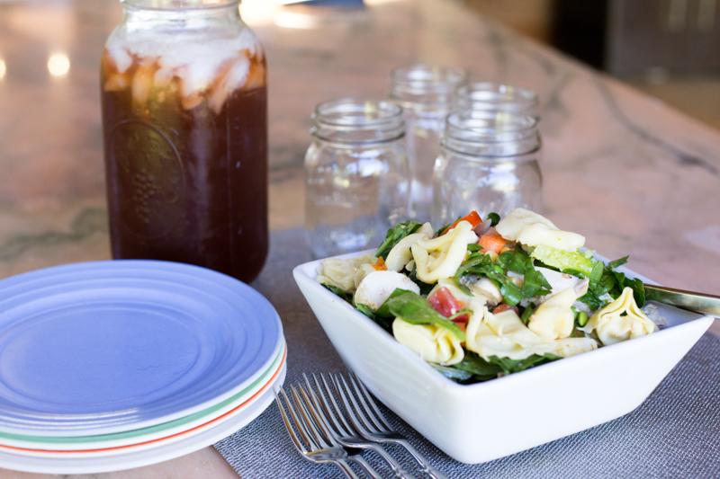 Tortelini summer salad