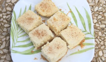 Eggnog Cheesecake Bars: Regular or Gluten Free.