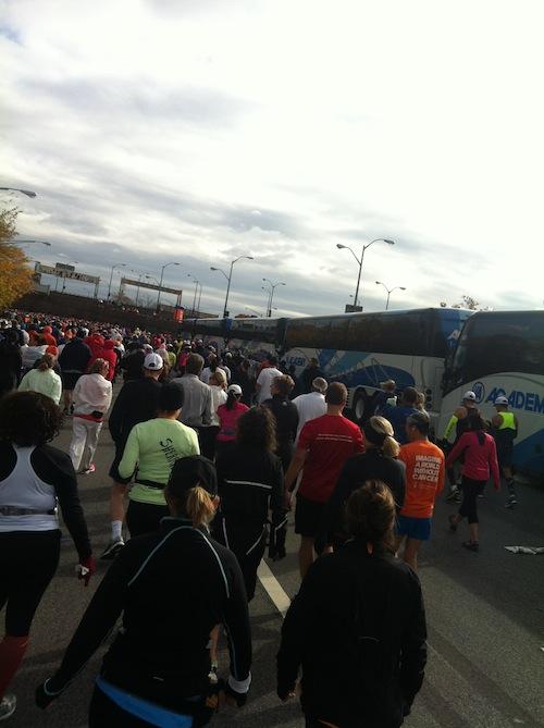 starting line NYC marathon